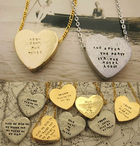 After the party, it's the hotel lobby in gold, please. Heartbeats Necklaces | Erica Weiner