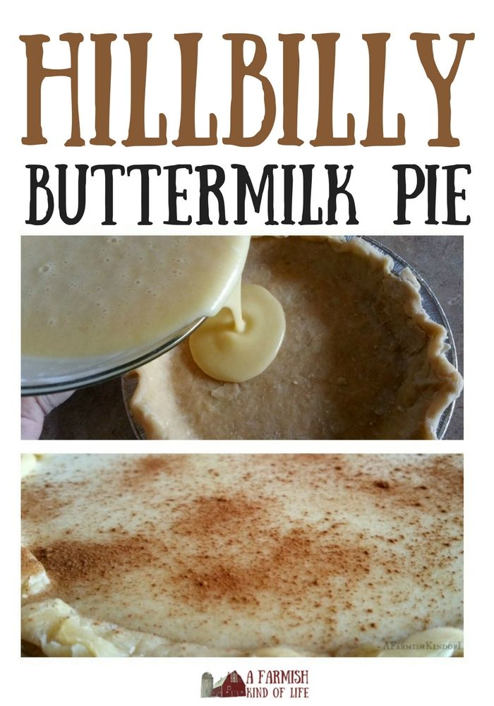 Looking for a different sort of pie that's sweet, delicious, and fun? Try Hillbilly Buttermilk Pie!
