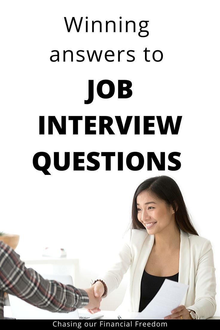 Common Job Interview Questions And Answers with Examples   Interview questions, Most common ...