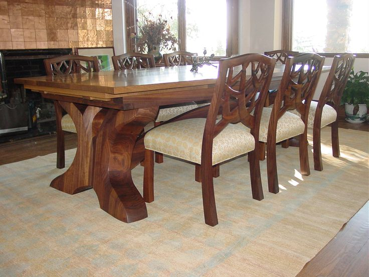 Arts And Crafts Inspired Draw Leaf Dining Table Designed