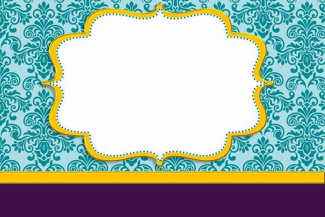 Azul Arabesco Roxo e Dourado – Kit Completo com molduras para convites, rótulos para guloseimas, lembrancinhas e imagens! |Fazendo a Nossa F...
