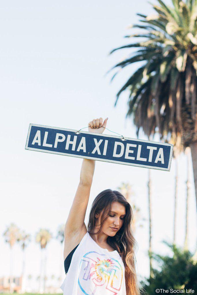 Alpha Xi Delta Vintage Sign