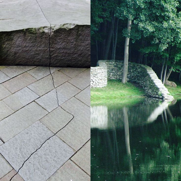 I've recently visited two site-specific works by Andy Goldsworthy. One at Storm King in NY the other at the DeYoung museum in San Francisco. The crack was unseen most patrons but I followed it, at fists length, from beginning to end.