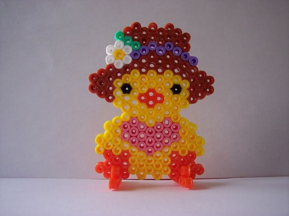 Easter chick hama perler by les-anges-geek