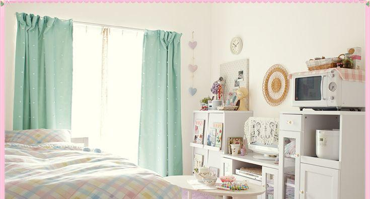 ひとり暮らしのお部屋コーデ:ホワイト安カワコーデ編