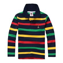 Top quality kids children boy t shirt kid boys clothing long sleeve cotton striped children's T-shirts 2 4 6 8 10 12 14 years //Price: $US $7.15 & FREE Shipping //     #clothing