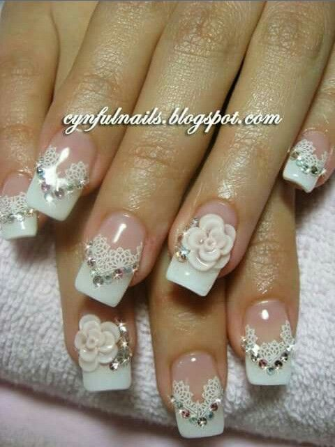 34 best bride nails images on pinterest make up beautiful and face weddbook nails play important role in adding beauty to a woman try this nail art on your wedding day which will surely make you look more adorable prinsesfo Choice Image