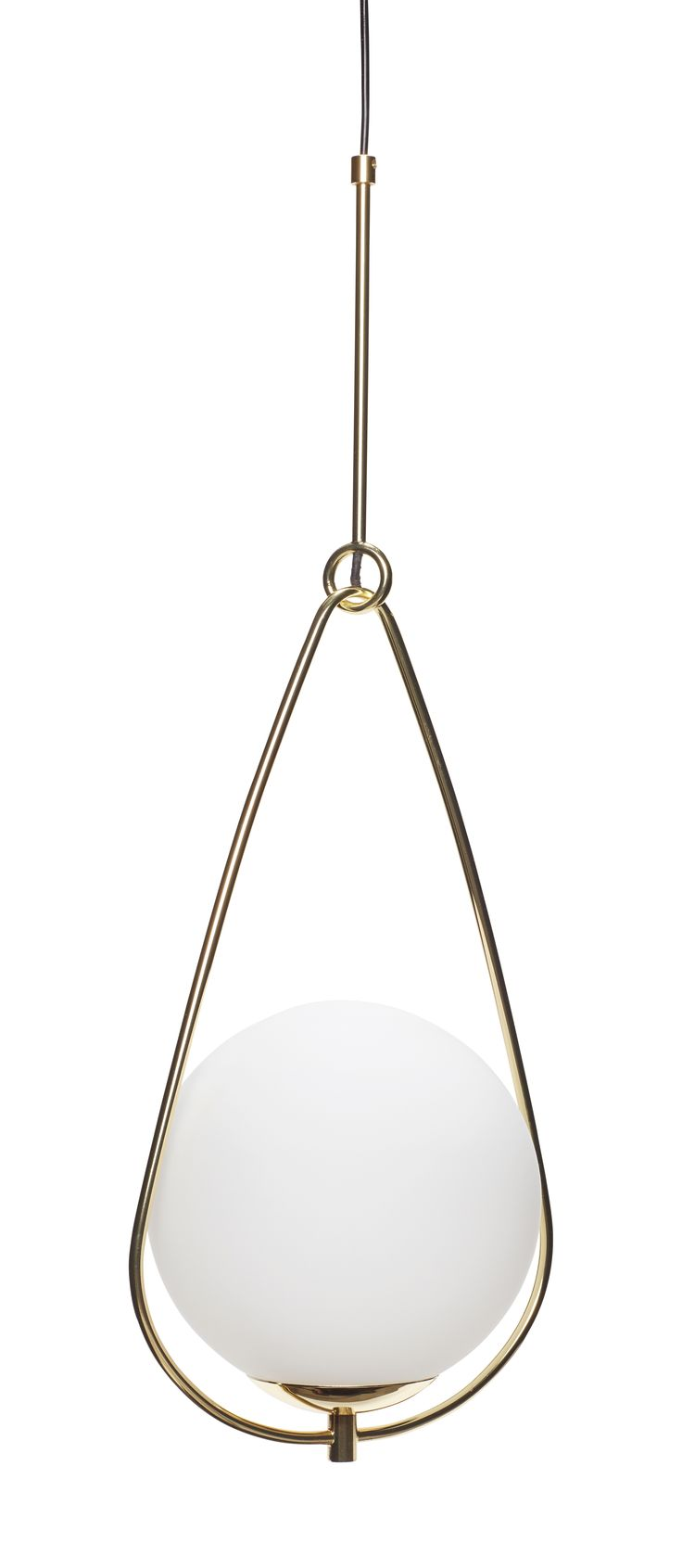 White glass and brass lamp. Item number: 890408 - Designed by Hübsch