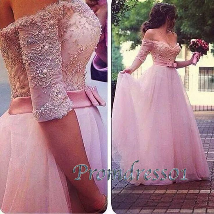 Gorgeous pink tulle strapless long prom dress, off-shoulder ball gown, non-white wedding dress, 2016 evening dresses from #promdress01 #promdress http://www.promdress01.com/#!product/prd1/4260533535/pink-tulle-strapless-beaded-long-formal-prom-dress