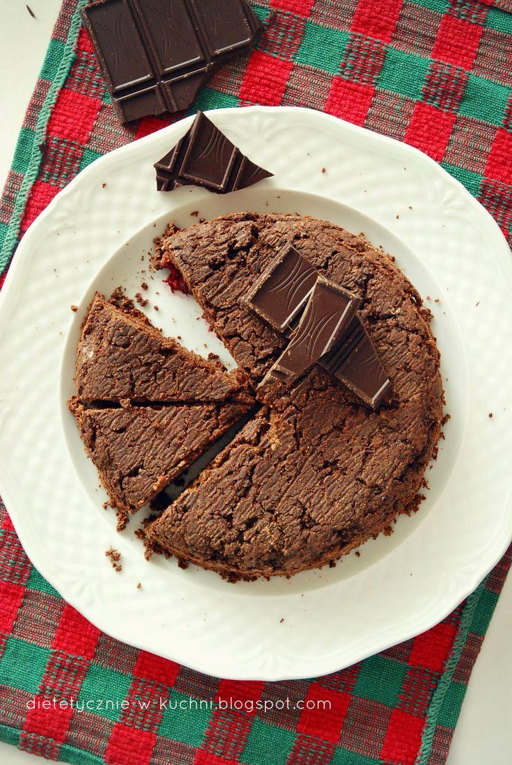 Moje Dietetyczne Fanaberie: Bezglutenowe ciasto czekoladowo-kokosowe z kaszy g...
