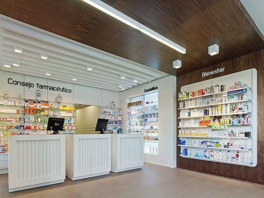 Farmacia Murguia - taller de farmacias. Diseño , proyectos y reformas de farmacias en Galicia, A Coruña, Pontevedra, Lugo, Orense.