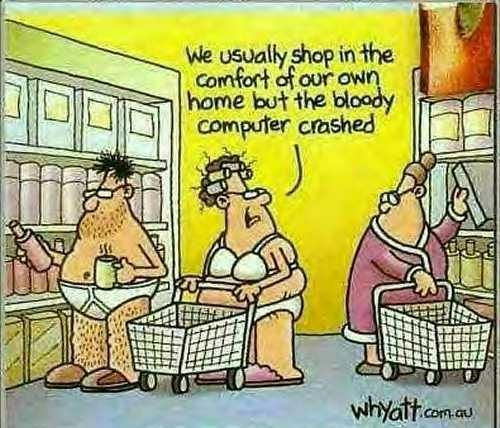 Perhaps exaggerated ..... but slightly true.