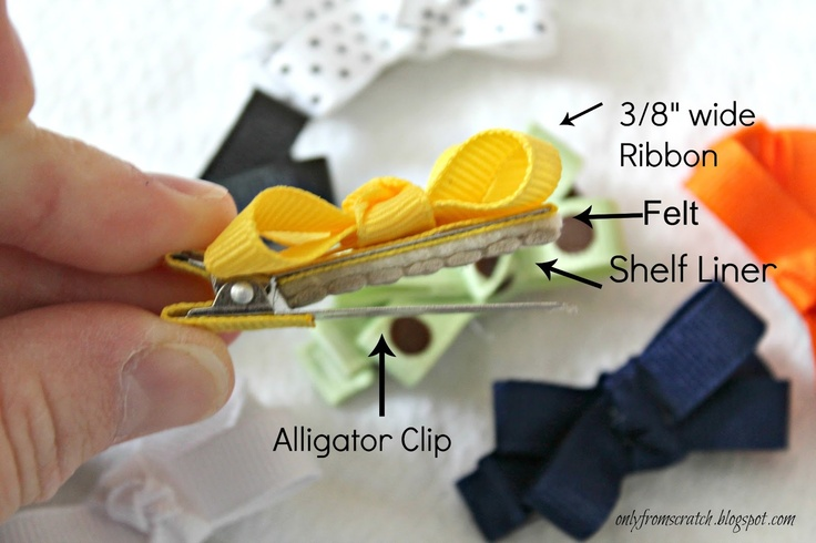 Only From Scratch: No-Slip Baby Girl Hair Bows