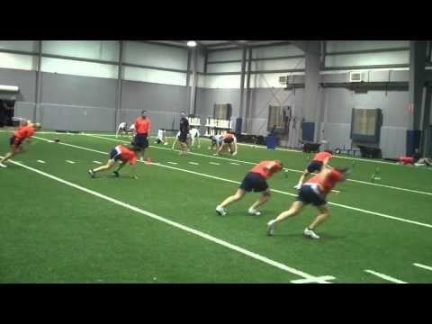 softball/baseball training program: Auburn Softball 10 13 2010 Plyo Workout and competition!.wmv