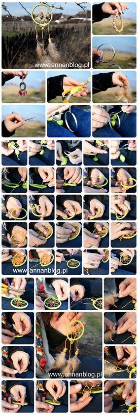 Dreamcatcher DIY www.annanblog.pl