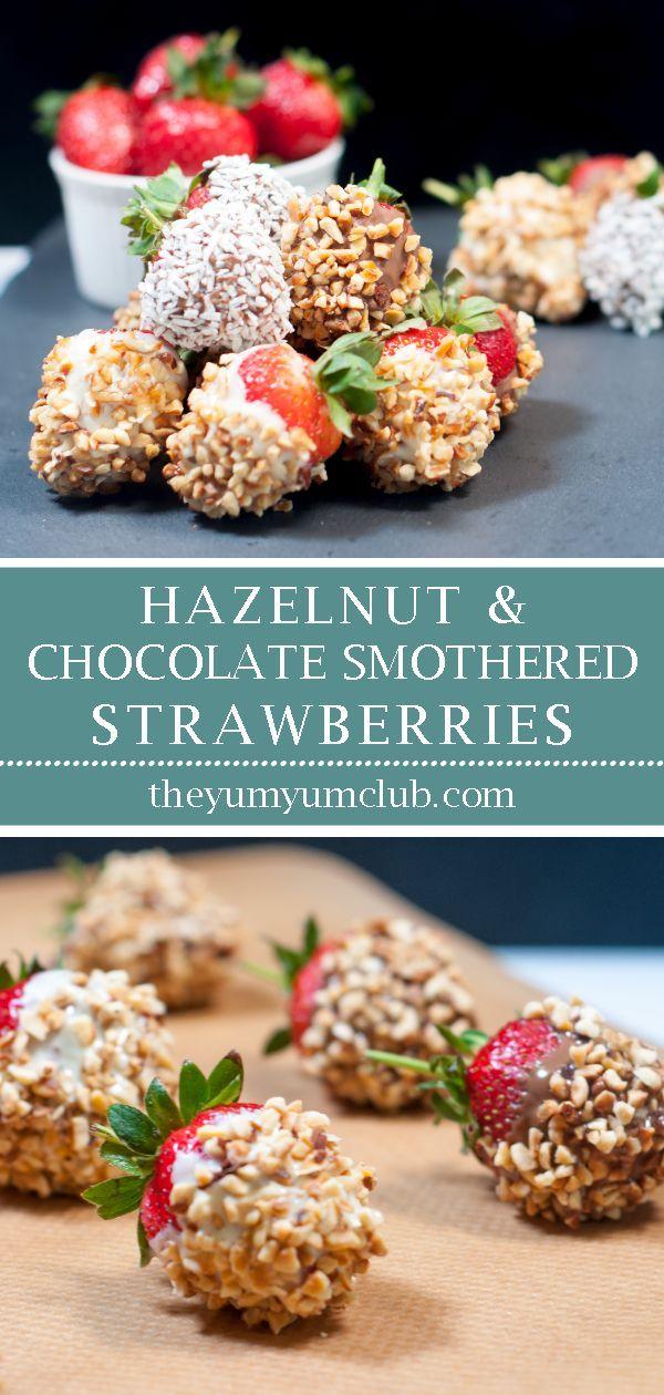 Hazelnut and Chocolate Smothered Strawberries