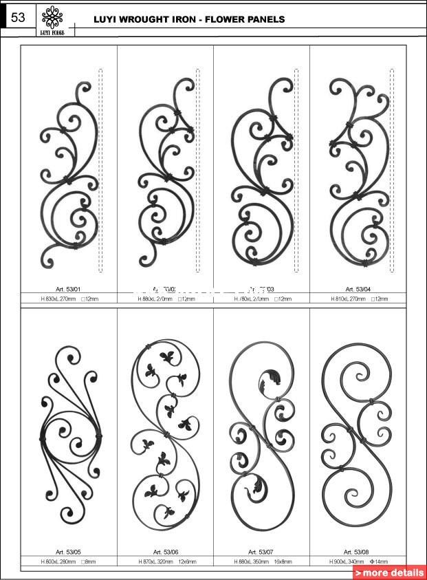 Wrought Iron Flower Panels / China Cast & Forged for sale from Luyi Ornamental Products Co., Ltd. - Bizrice.com