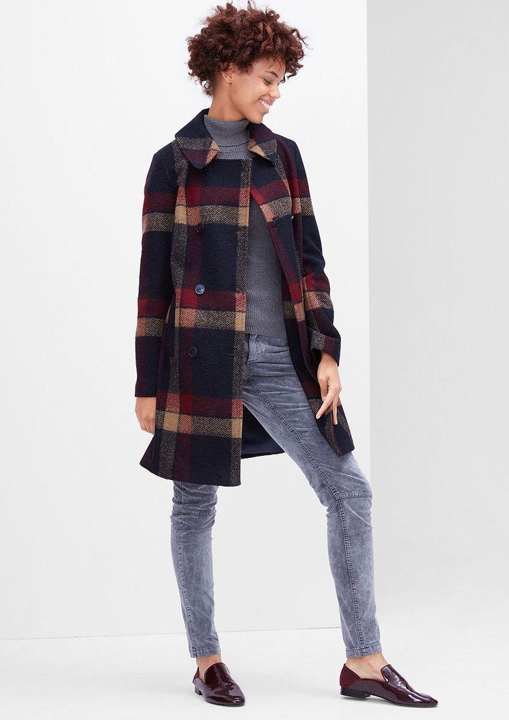 Karierter Wollmantel von s.Oliver. Entdecken Sie jetzt topaktuelle Mode für Damen, Herren und Kinder online und bestellen Sie versandkostenfrei.