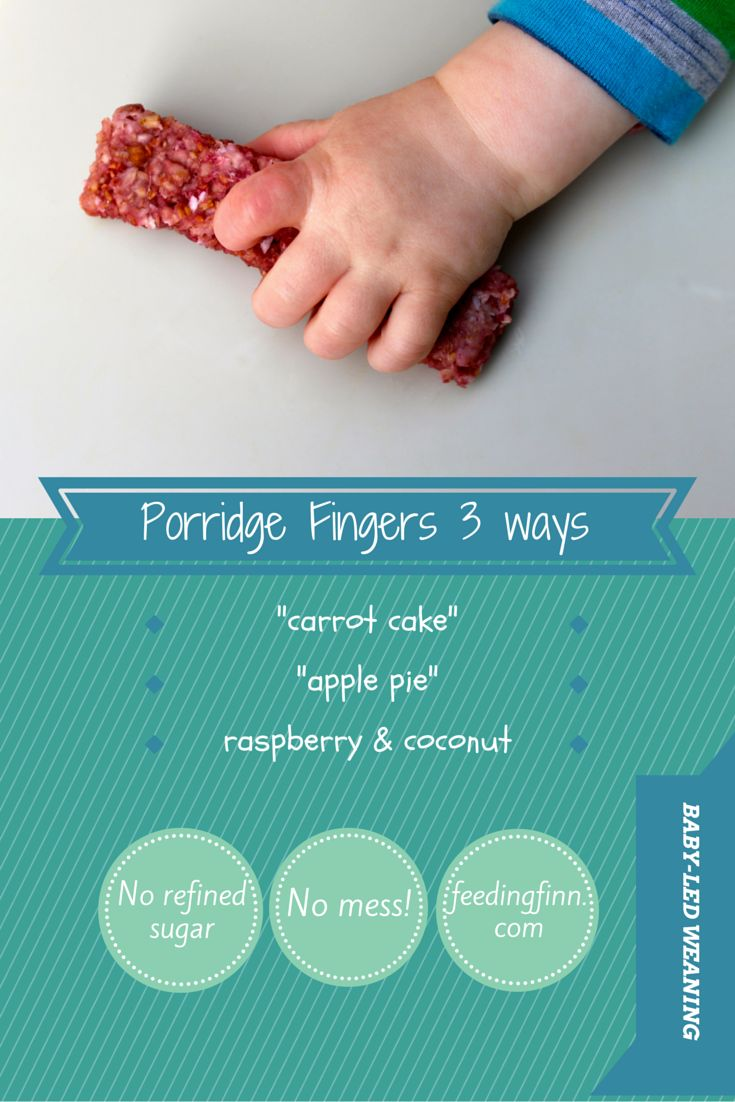 Porridge fingers pimped up with fruit and veg. Make ahead a freeze.