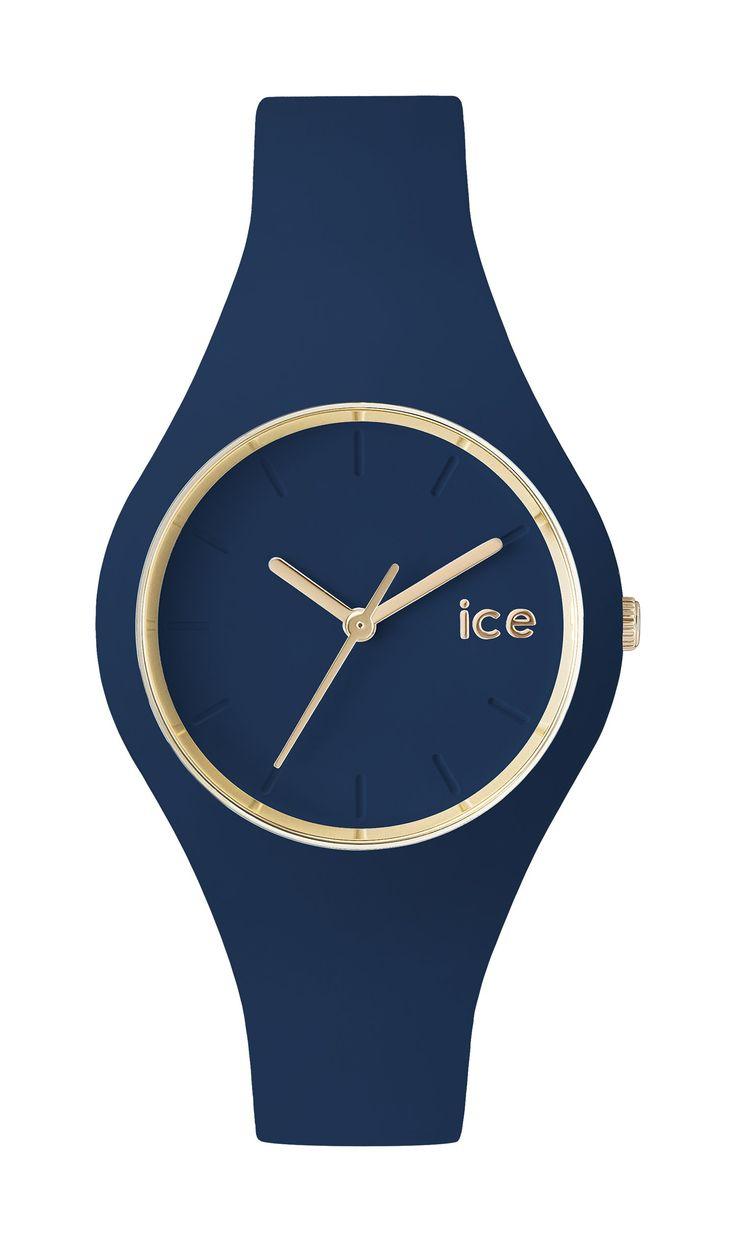 ICE-Watch - ICE.GL.TWL.S.S.14 - Ice Glam Forest - Montre Mixte - Quartz Analogique - Cadran Bleu - Bracelet Silicone Bleu: Amazon.fr: Montres