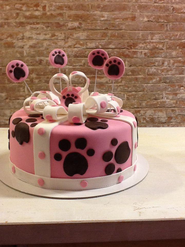 Tarta huella de perro / gift cake www.ameliabakery.com