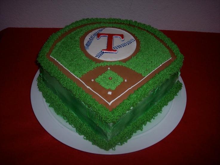 baseball cake decorating ideas | Birthday Cakes for Kids: Baseball Park Cake- Texas Rangers