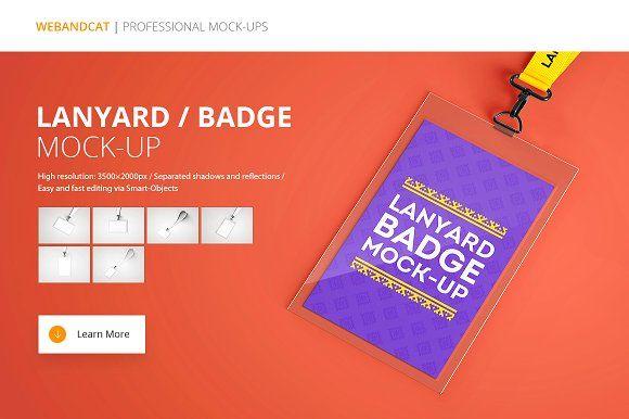 Lanyard Name Tag Badge Mockup By Webandcat On