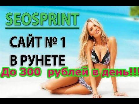 До 300  рублей в день на Сео Спринт 2016!!!
