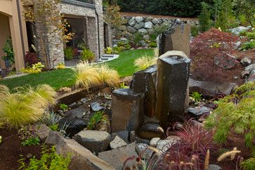 Water Feature Design - Contemporary - Landscape - Seattle - Environmental Construction, Inc.