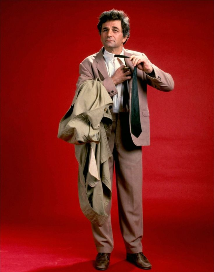 Promotional photo of Peter Falk as Detective Columbo