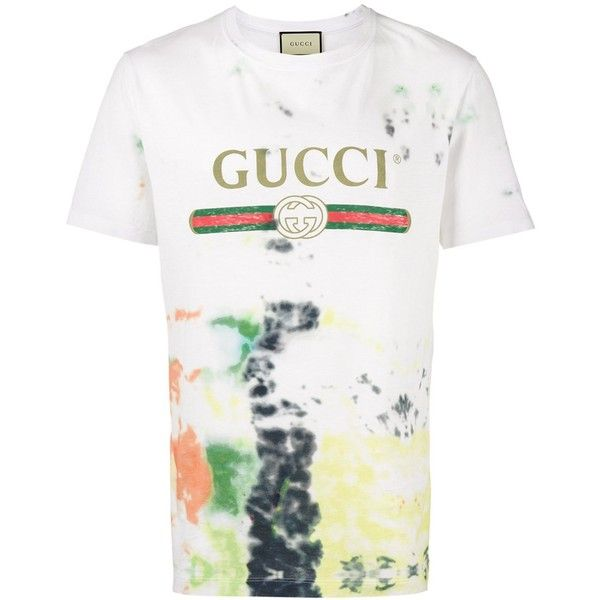 Gucci Gucci Men's White Cotton T-Shirt | Bluefly.Com ($607) ❤ liked on Polyvore featuring men's fashion, men's clothing, men's shirts, men's t-shirts, white, mens cotton shirts, mens white cotton shirts, mens white shirts, mens shirts and mens cotton t shirts