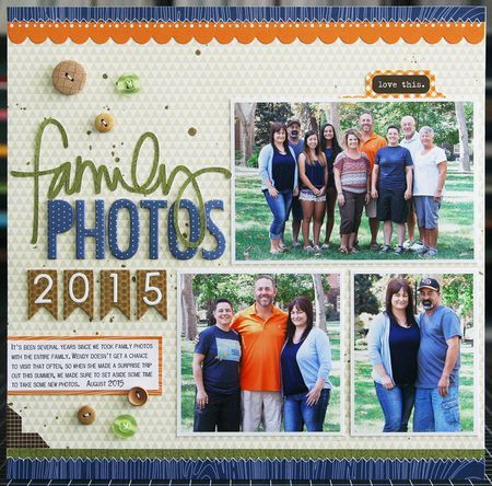 Family Photos 2015...3 photo layout