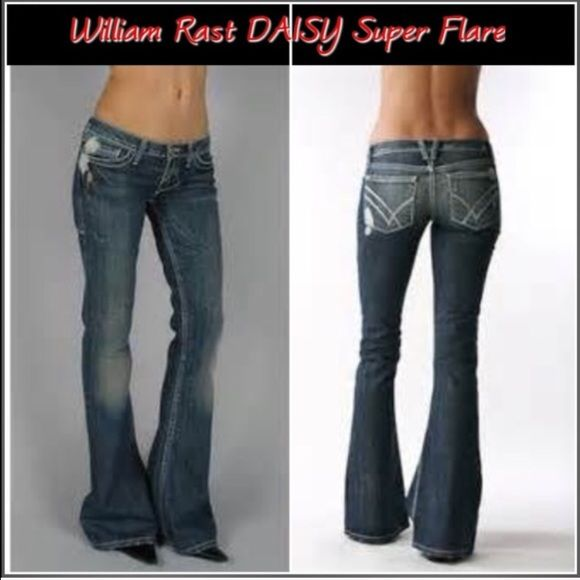 wknd saleWilliam Rast daisy super flares Destroyed super flare in Jupiter wash. Purchased from Nordstrom. Please note frayed bottoms. William Rast Jeans Flare & Wide Leg