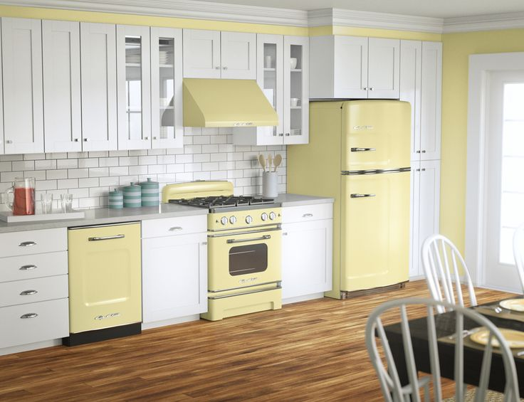 Buttercream yellow? Big Chill retro fridges, stoves and dishwashers come in eight vibrant colors—and more than 200 custom shades. What's your color? #BigChill