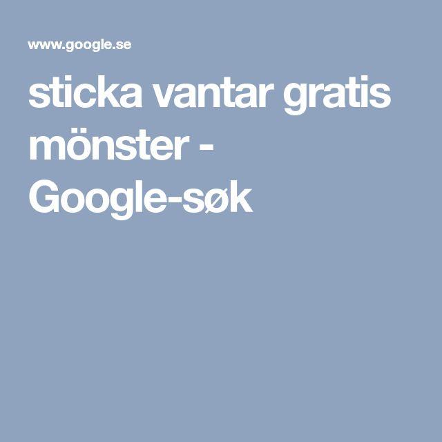sticka vantar gratis mönster - Google-søk