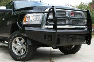 FabFours BLACK STEEL Full Guard Front Bumper 2013-2016 DODGE 1500 DR13-K2960-1 - BumperOnly