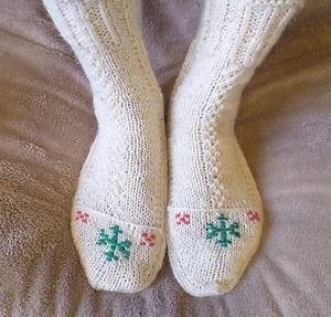KURDISH KURDISTAN ART New Hand Knitting Pattern Wool Socks Warm For Winter