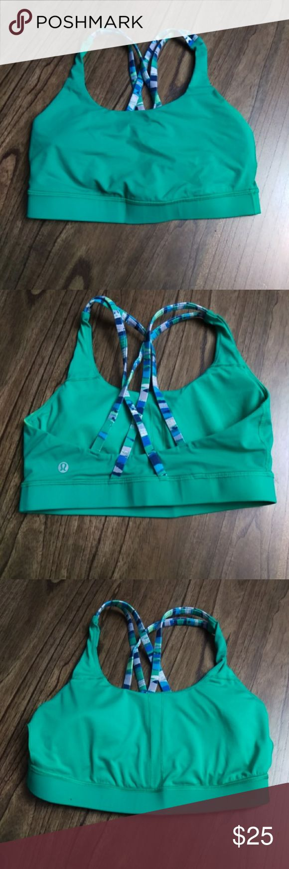 Lululemon Energy Bra  Jungle / Seven Wonders Multi Pre-owned in good shape. Size 8. Breathe (and sweat!) easy in this Sun Salutation-approved yoga bra. Luxtreme Cool-to-the-touch Luxtreme fabric is four-way stretch and sweat-wicking—we added LYCRA fibre for shape retention sweat-wicking four-way stretch cool smooth handfeel shape retention LYCRA®Added LYCRA® fibre for great shape retention stretch great shape retention long-lasting comfort lululemon athletica Intimates & Sleepwear Bras…