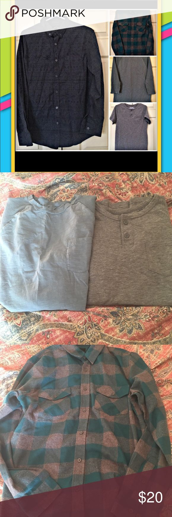 🧢🎉MENS DRESSY/CASUAL SHIRTS🎉🧢 Selling a bundle of men's casual/dressy shirts! All in great condition! No holes or stains! Any questions feel free to ask! I can give you more details regarding items if you are interested! As in, material, measurements, more pics etc. Shirts Casual Button Down Shirts