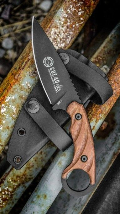TOPS Knives C.U.T. 4.0 Combat Utility Tool Knife Blade with Micarta