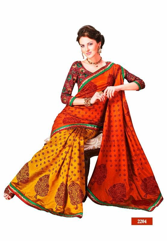 Buy Raw Silk Saree. 2204. Party wear Muhenera collection Online