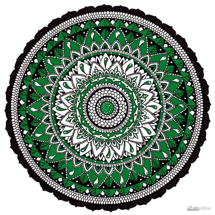 Spring Hand drawn Mandala by Stacey Haseldine