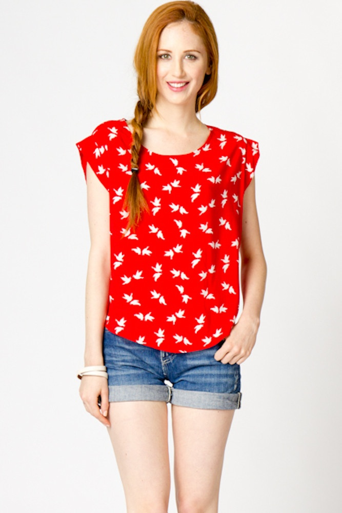 Rachel Birds of a Feather Woven Top: Beauty Hair Makeup, Color, Clothesss, Outfit, Clothes Hair