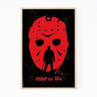 Noir Gallery Friday, 13th Movie Poster Framed Art Print (White – 20 x 24), Multicolor
