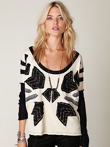 Free People Nordic Compass Long Sleeve Top at Free People Clothing Boutique - StyleSays
