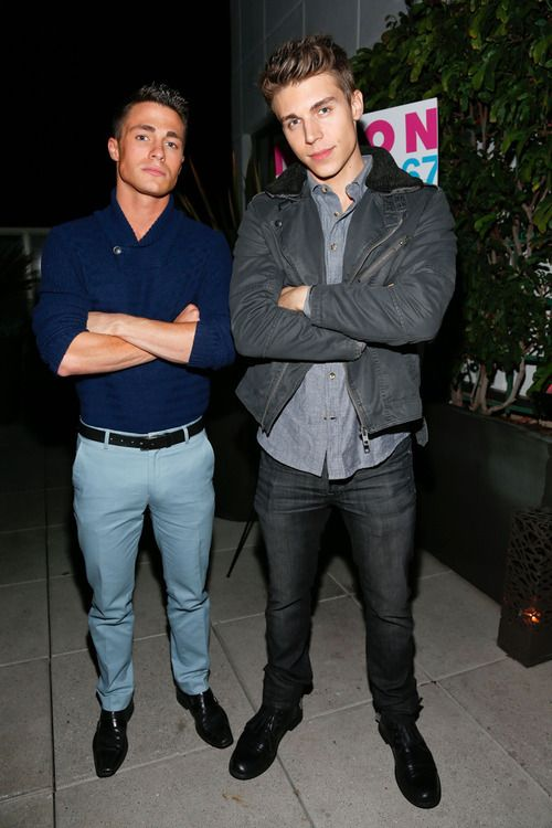 Colton Haynes and Nolan Gerard Funk
