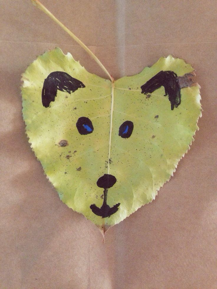 Leaves and Animals - Crafts for Fall / Autumn: