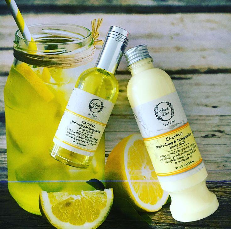 Φρεσκάδα, δροσιά, ενέργεια ή αλλιώς… #Calypso! Με βασικό συστατικό το λεμόνι, αλλά και άλλα κιτροειδή, το γαλάκτωμα σώματος και το body splash της σειράς Καλυψώ θα σας χαρίσουν ενέργεια, τόνωση και αναζωογόνηση, δροσίζοντας το δέρμα σας και ξυπνώντας τις αισθήσεις σας! #freshline #refreshing #invigorating #lemon #citrus #mandarin #grapefruit