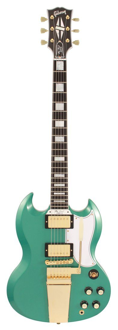 Gibson Custom Shop SG Custom 2 Pickup with Maestro -  Inverness Green. Not mine, but kind of close...