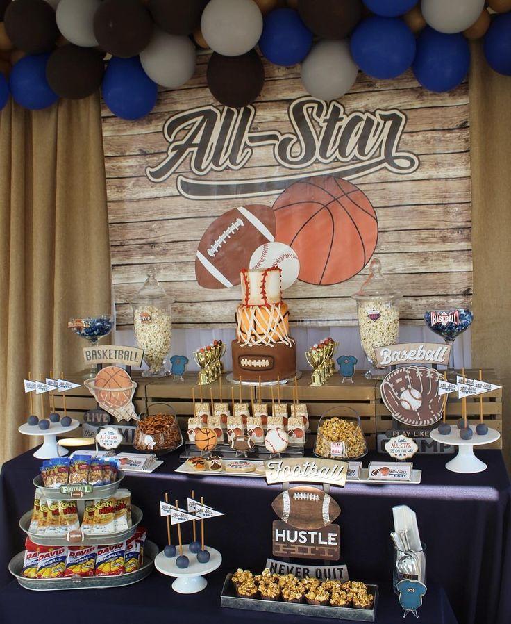 Vintage All Star Baby Shower Vintagebabyshower Vintagesports Vintagesportsbabyshower Baby Boy Shower Sports Boy Baby Shower Themes Baby Shower Vintage